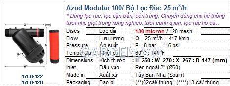 Lọc đĩa Azud D34, D49, D60 - Gía chỉ từ 300,000đ