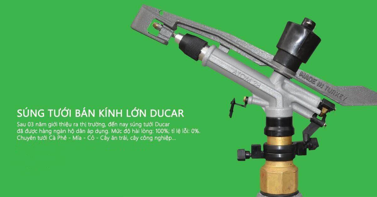 Súng tưới Ducar Atom 35 Metal bán kính lớn
