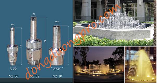 Phun nước nghệ thuật - Vòi phun Nozzle