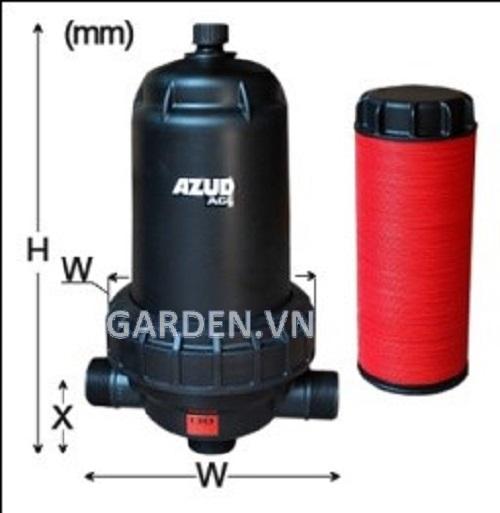 Bộ lọc đĩa AGL 3'', 130 micron, 50 m3/h Azud