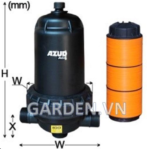 Bộ lọc đĩa AGL 50 m3/h 100 micron Azud