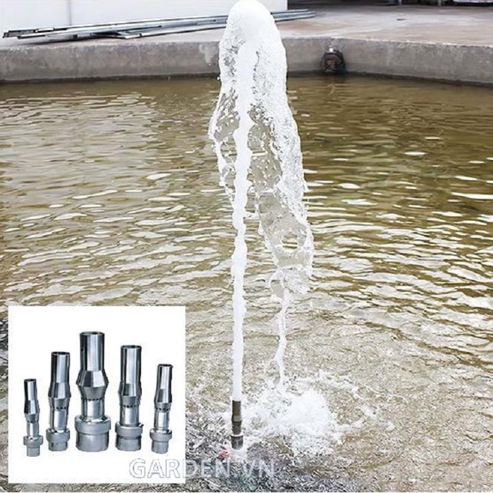 Đầu phun cột nước sủi bọt phi 34mm inox